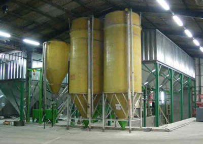 Stockage Groupe TOY dans usine d'aliments pneumatique