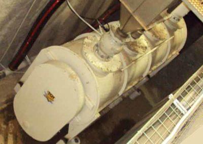 Mélangeur tube industriel transmission chaîne carter Groupe TOY