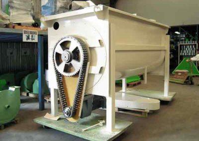 Mélangeur horizontal industriel transmission chaîne carter Groupe TOY