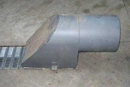 Boitard de ventilation sur caniveau pour ventilateurs à céréales Groupe TOY