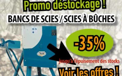 Promo Scies à bûches & Aplatisseur Rubix. Fin de stocks