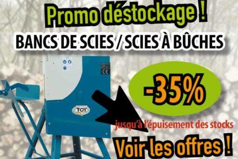 Promo Scies à bûches & Aplatisseur Rubix. Fin de stocks